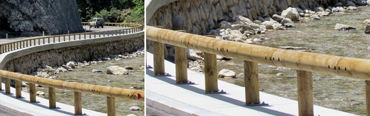 wood steel guardrailsGM 6 Glissière en bois